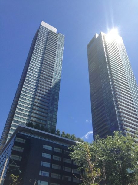 Tall buildings in downtown Toronto