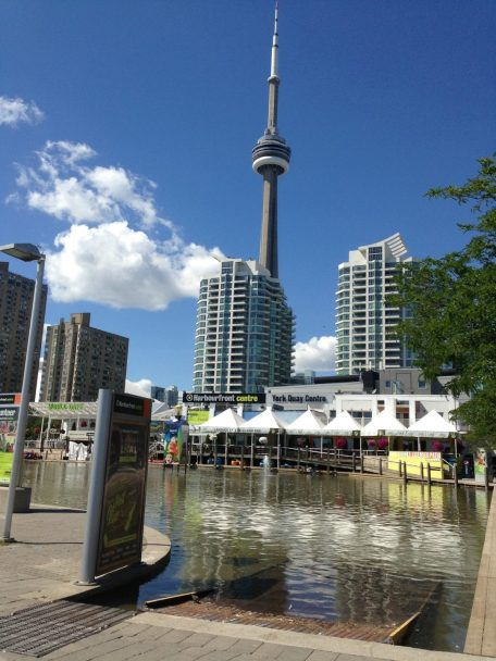View of the CN Tower in Toronto