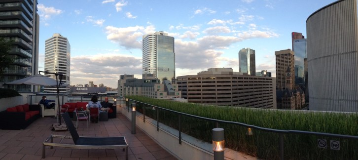 Panoramic view from the roof of our condo