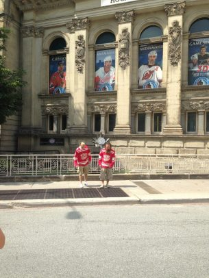 Jon and Dan outside the Hockey Hall of Fame
