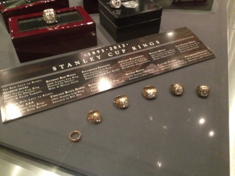 Stanley Cup rings at the Hockey Hall of Fame