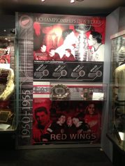 Redwings display at the Hockey Hall of Fame