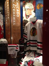 Blackhawks display at the Hockey Hall of Fame