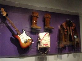Jimi Hendrix Electric Guitar, Boots, Flight Bag, and Suede and Leather Jacket