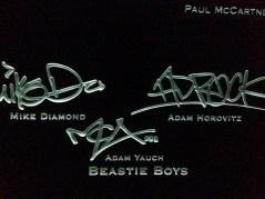 Beastie Boys signatures
