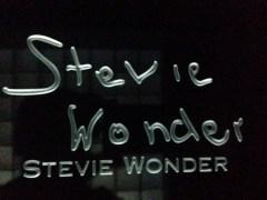 Stevie Wonder signature