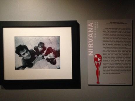 Nirvana photo and plaque
