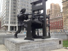 Benjamin Franklin - Craftsman sculpture in Philadelphia