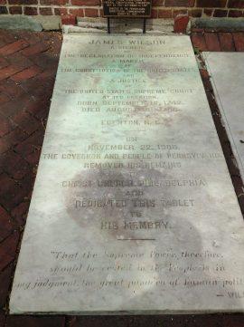 James Wilson grave at Christ Church, Philadelphia
