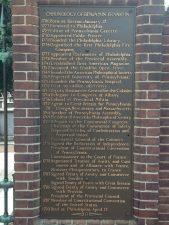 Benjamin Franklin chronology plaque, Philadelphia