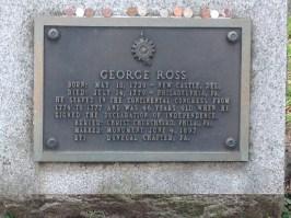 George Ross grave, Christ Church Burial Grounds, Philadelphia