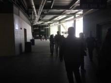Walking through the stadium heading to the tunnel