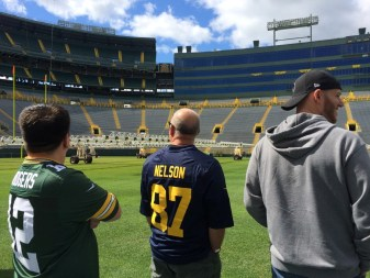 Just a few Martin men at Lambeau