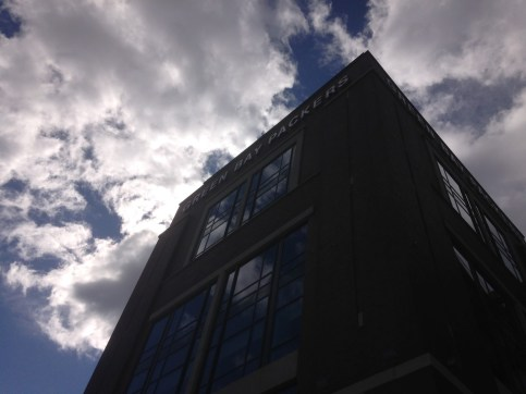 Outside view from below before entering Lambeau