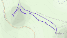 GaiaGPS hiking data @ Wildcat Mountain State Park