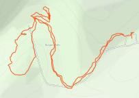 GaiaGPS hiking data @ Burgess Falls State Park