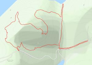 GaiaGPS hiking data @ Panther Creek State Park