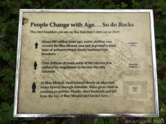 Flint Rock Nature Trail - Sign describing geology