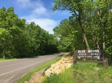 Blue Mound State Park entrance