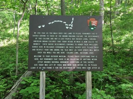 Effigy Mounds National Monument - Respect Sacred Ground