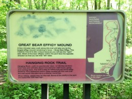 Effigy Mounds National Monument - Trail sign