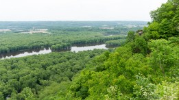 Wyalusing State Park - View of Signal Point from Point Lookout