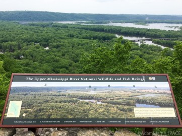 Wyalusing State Park - Signal Point sign