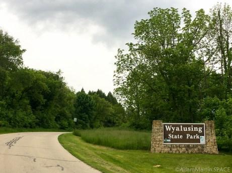 Wyalusing State Park - Entrance sign