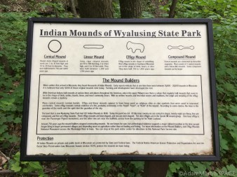 "Wyalusing State Park - ""Indian"" mounds of Wyalusing sign"