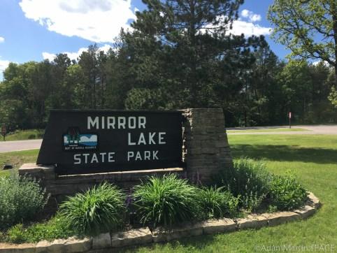 Mirror Lake State Park - Entrance sign