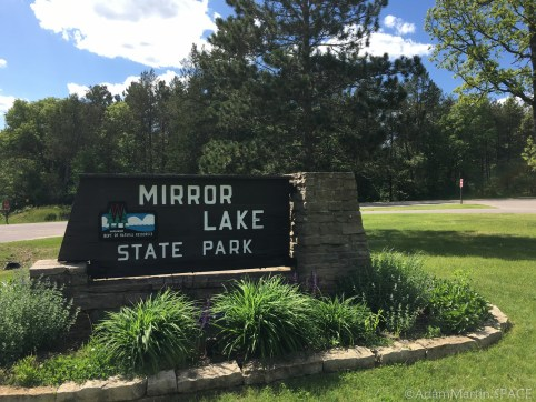 Mirror Lake State Park - Entrance sign