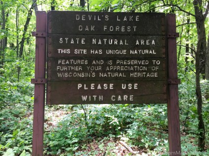 Devils Lake State Park - Sign on the Potholes Trail