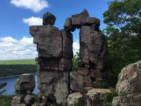 Devils Lake State Park - View of the famous Devil's Doorway rock formation