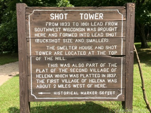 Tower Hill State Park - Shot Tower Sign