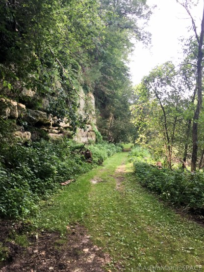 Tower Hill State Park - Trail leading to the Shot Tunnel