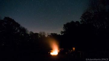 Wildcat Mountain State Park - Night sky shot from Wildcat Mountain State Park site 106