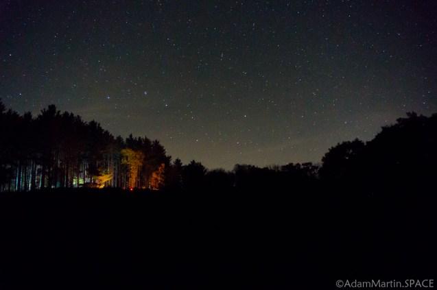 Wildcat Mountain State Park - Night sky shot from Wildcat Mountain State Park site 106 over site 104