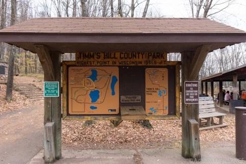Timms Hill - Main info sign at trailhead