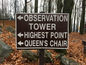 Rib Mountain State Park - Sign near observation tower