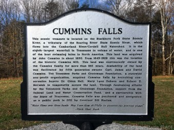 Cummins Falls State Park - Historical sign