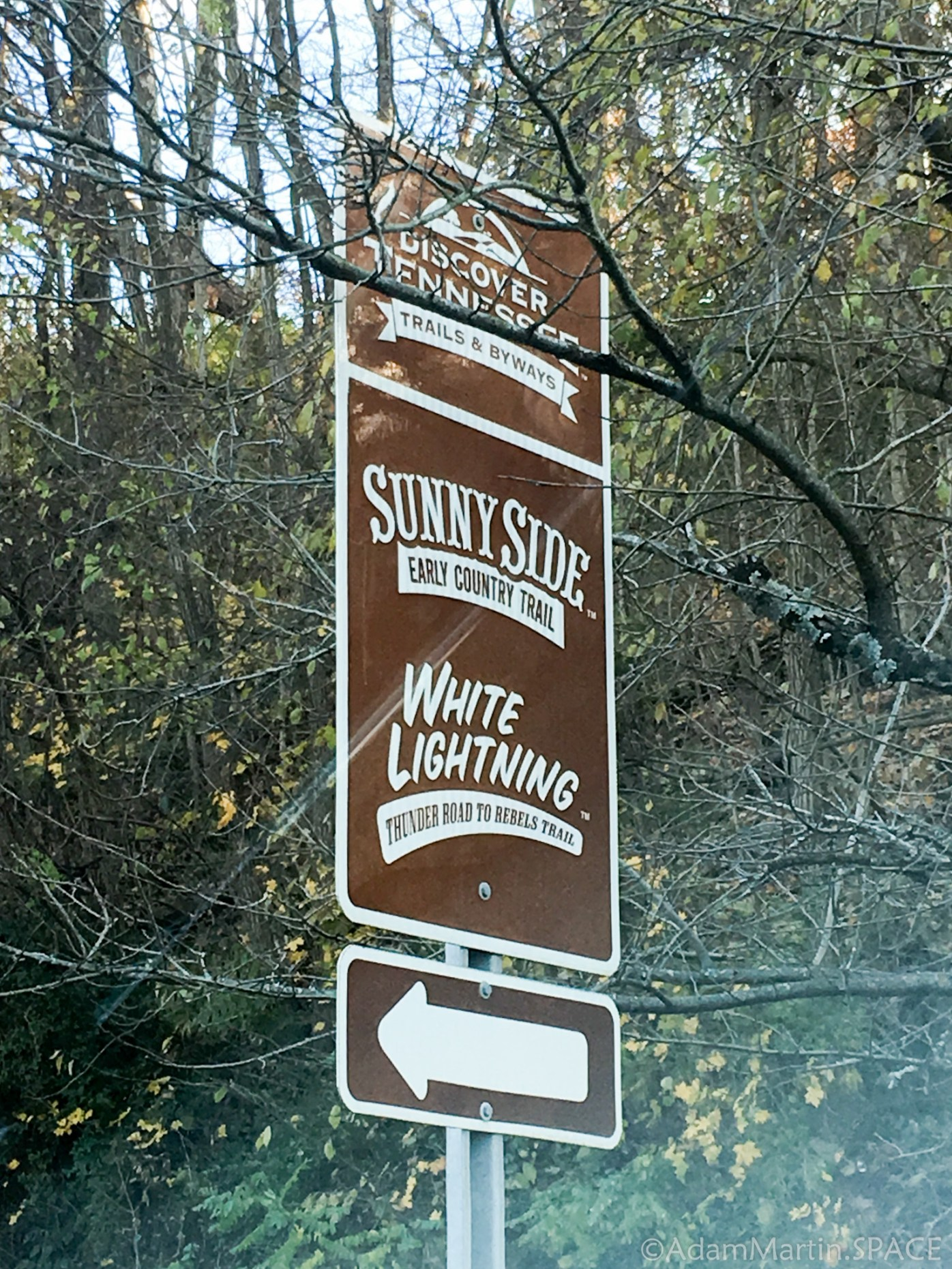 Newport, TN - Trails & Byways sign
