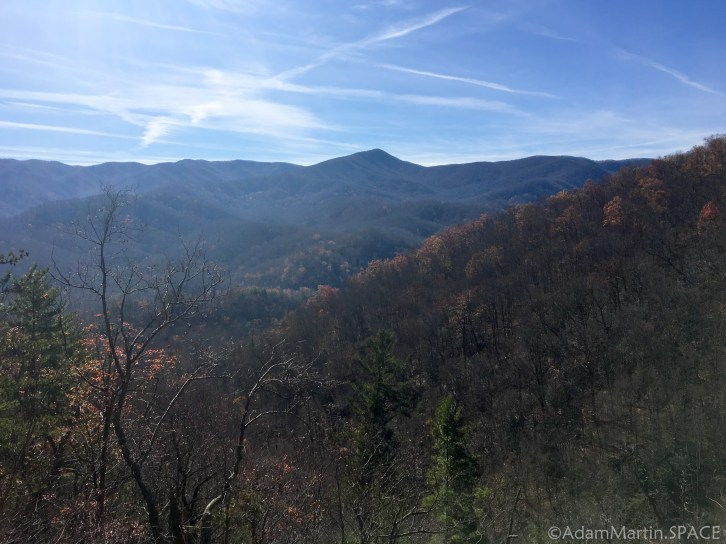 Laurel Falls - View across the valley from the trail