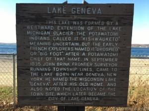 Bigfoot Beach State Park - Lake history sign