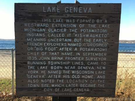Bigfoot Beach State Park - Lake history sign