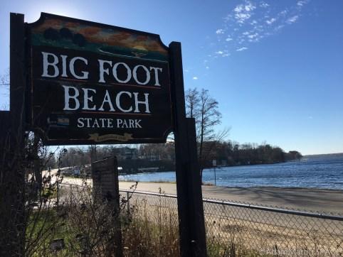 Bigfoot Beach State Park - Entrance sign