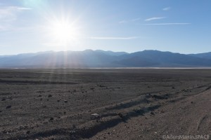 Death Valley - View across the wash on Artists Drive