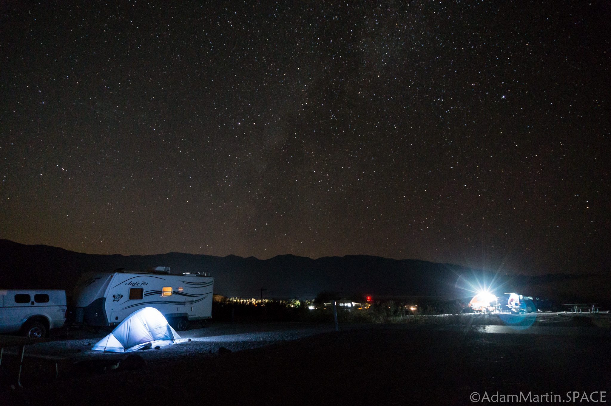 Death Valley - Astrophotography at Texas Springs campground