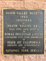 Death Valley National Park - Dedication Sign