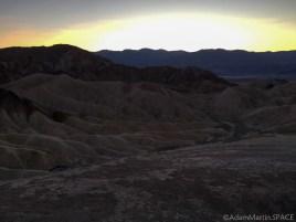 Death Valley - Sunset at Zabriskie Point