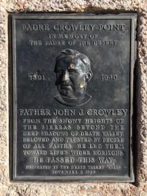 Death Valley - Padre Crowley Point plaque
